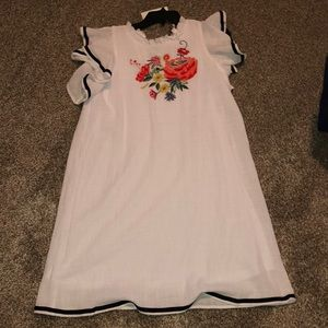 THML Embroidered Dress Size Medium